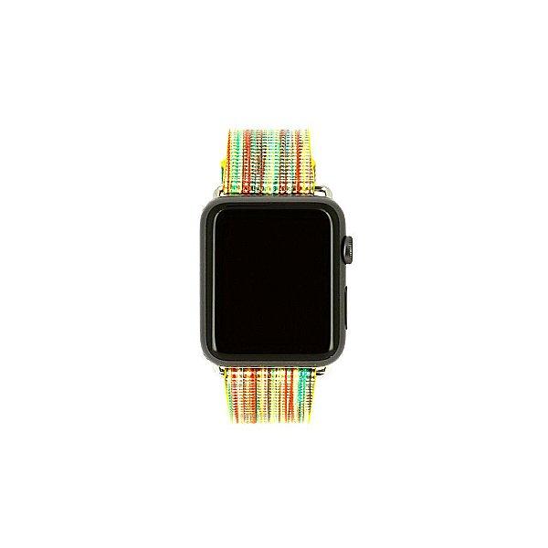 Pulseira Couro Colorido Para Apple Watch 42mm Multicores