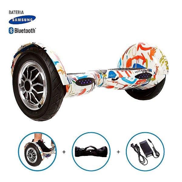 "Hoverboard 10"" Grafite Hoverboard Bateria Samsung Bluetooth Smart Balance Com Bolsa"