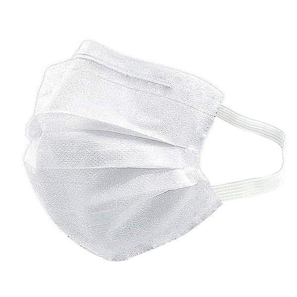 Máscara Para Rosto Descartável MaskMedic Dupla Camada Branca Higiene Pessoal Clip Nasal