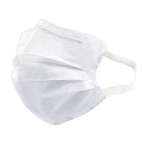 Máscara Descartável Branca Tripla Camada Com Clip Nasal Máxima Proteção MaskMedic De Elástico