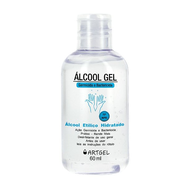 Álcool Gel Higienizador De Mãos ArtGel 70 INPM 60ml