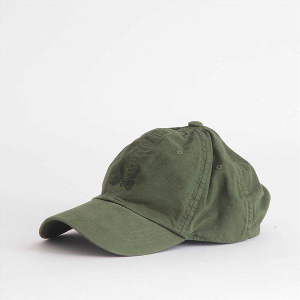 Boné Aba Curva Logo Básico - Verde Militar