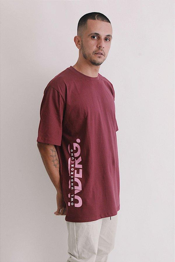 Camiseta OWL Underg Sport - Bordô