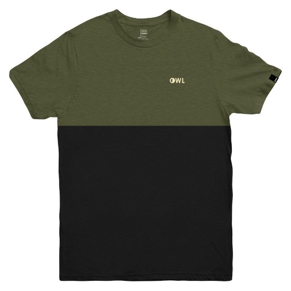 Camiseta OWL Dublê Bordado - Verde Galapagos