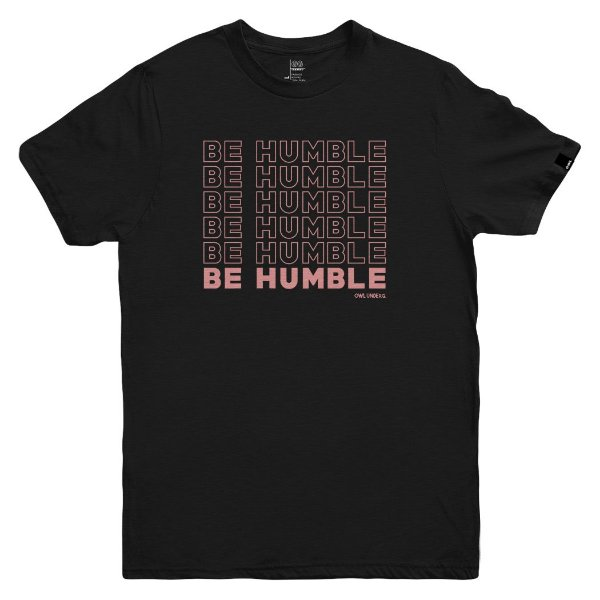 Camiseta OWL Be Humble - Preto