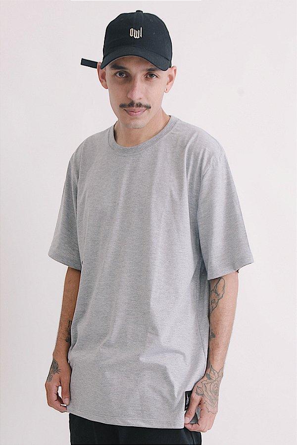 Camiseta Básica OWL - Cinza Mescla
