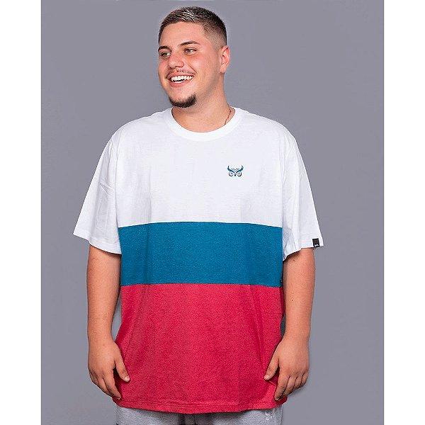 Camiseta Listrada OWL Stripes - Branco