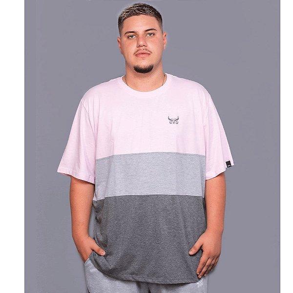 Camiseta Listrada OWL Stripes - Rosa Bebê