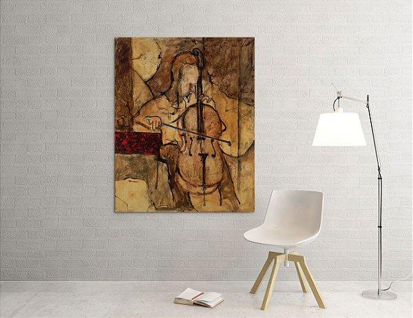 Quadro Decorativo Tela Soft Cello 100 x 80 cm