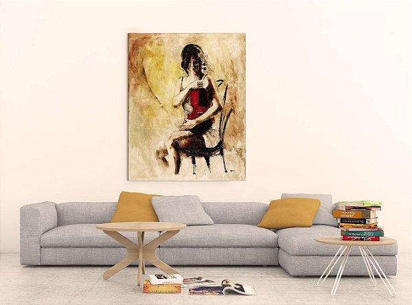 Quadro Decorativo Tela Divine Melody 100 x 80 cm