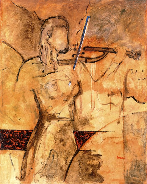 Gravura Fine Art Modern Violin 50 x 40 cm