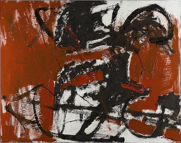 Arte Contemporânea Tela Black Horse 60 x 80 cm
