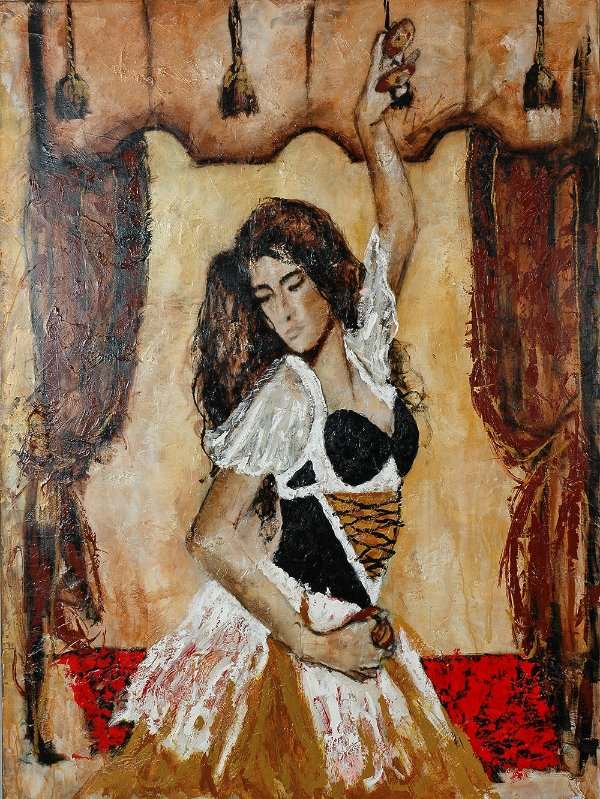 Arte Contemporânea Tela Dancer with Passion 80 x 60 cm