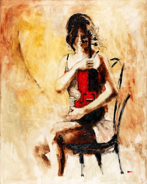 Arte Contemporânea Tela Divine Melody 80 x 60 cm