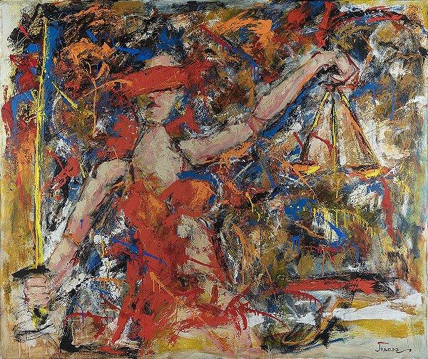 Arte Contemporânea Tela Justice 60 x 80 cm