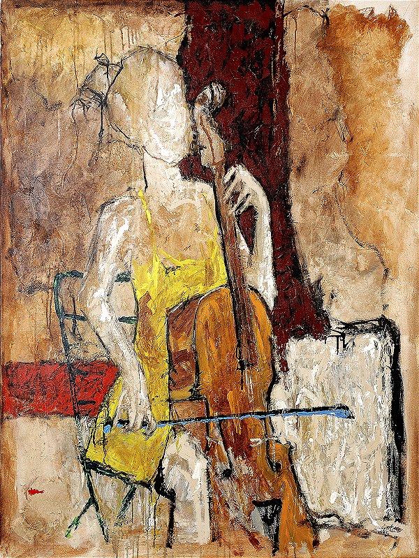 Arte Contemporânea Tela Margareth 80 x 60 cm