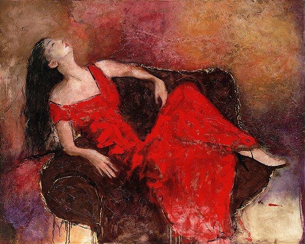 Arte Contemporânea Tela Marly 60 x 80 cm