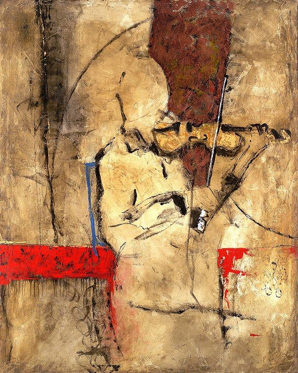 Arte Contemporânea Tela Melody 80 x 60 cm
