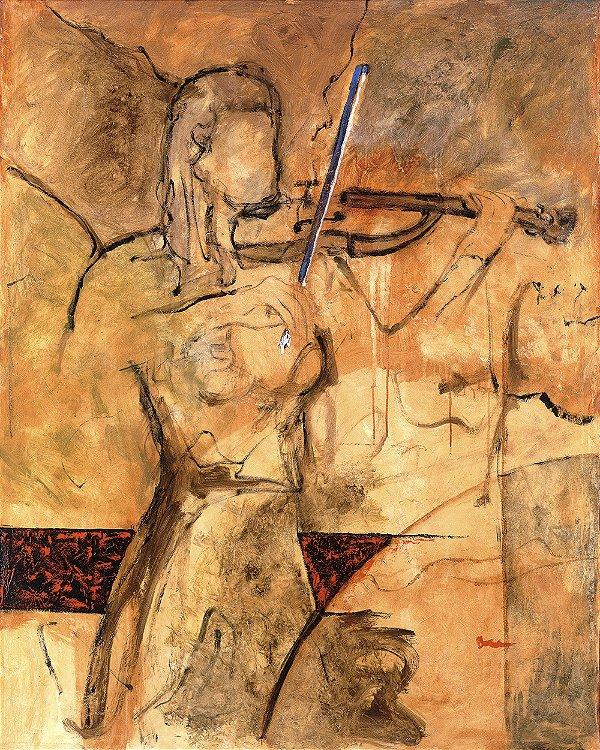 Arte Contemporânea Tela Modern Violin 80 x 60 cm