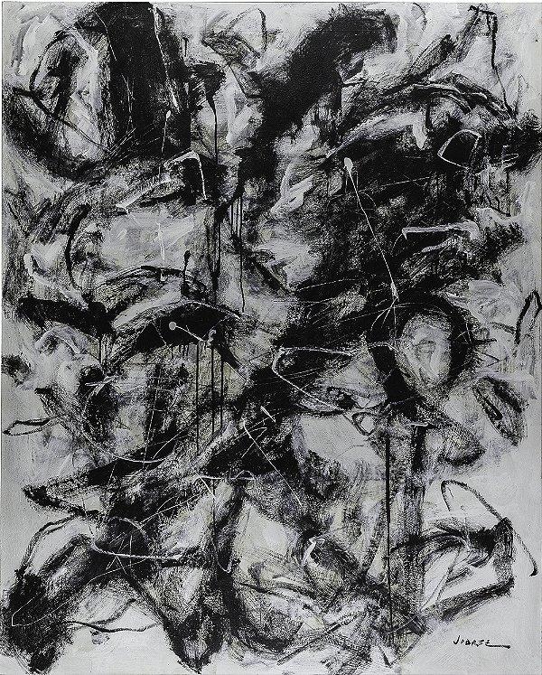 Arte Contemporânea Tela Noir D'ivoire 80 x 60 cm