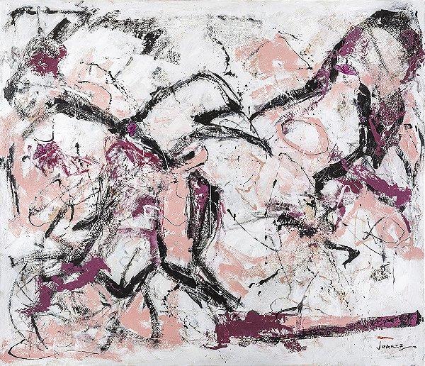 Arte Contemporânea Tela Papagaios 60 x 80 cm