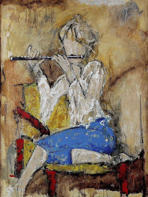 Arte Contemporânea Tela Paula 80 x 60 cm