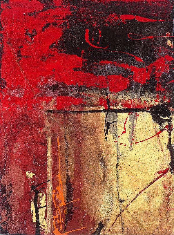Arte Contemporânea Tela Victory 3 80 x 60 cm