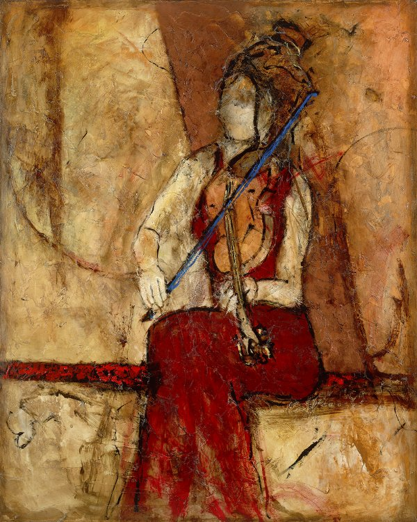 Arte Contemporânea Tela Violin for One 80 x 60 cm