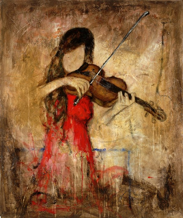 Arte Contemporânea Tela Vivian 80 x 60 cm