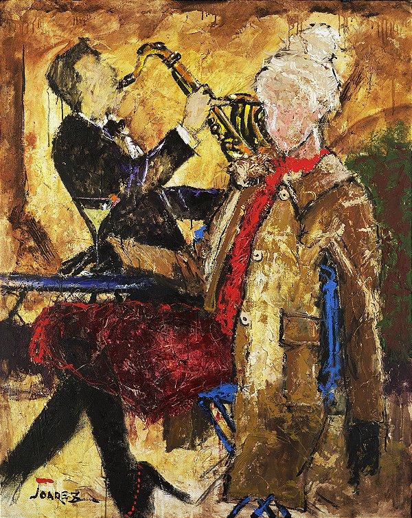 Arte Contemporânea Tela Winter Festival 80 x 60 cm