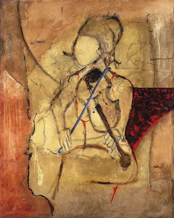 Arte Contemporânea Tela Young Violist 80 x 60 cm