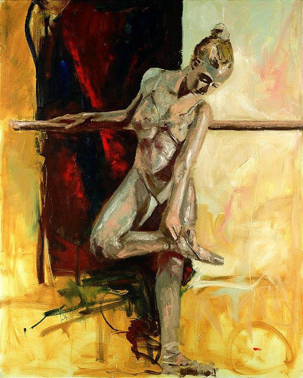 Quadro Decorativo Tela Ballerina 100 x 80 cm