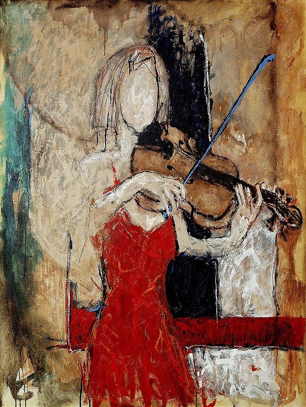 Quadro Decorativo Tela Brena 100 x 80 cm
