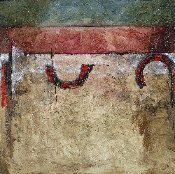 Quadro Decorativo Tela Espheras 100 x 100 cm