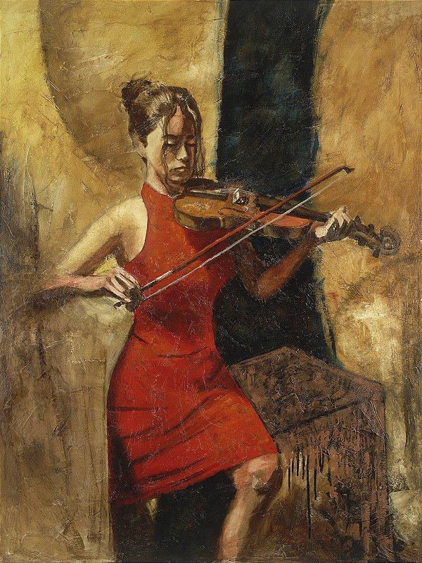 Quadro Decorativo Tela Strings 100 x 80 cm