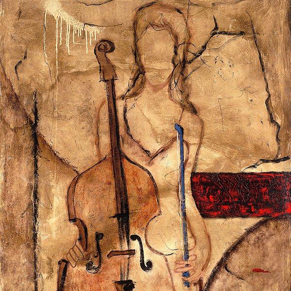 Gravura Coleção Música 30 x 30 cm Principal Cello