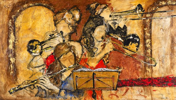 Obra de Arte Tela Classic Room Concert 90 x 150 cm