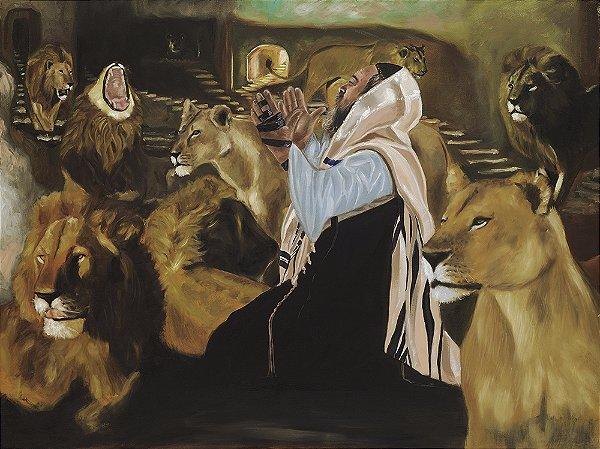 Obra de Arte Tela Daniel and the Lions 120 x 150 cm