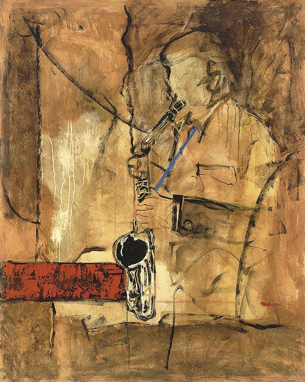 Obra de Arte Tela Saxofonist 150 x 120 cm