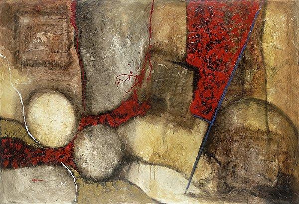 Quadro Tela Composition 100 x 125 cm