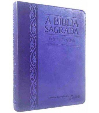 Bíblia Letra Gigante Hiper Legível Uva/ Lilás