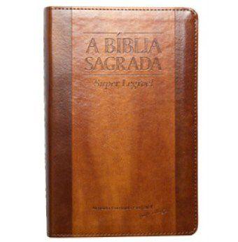 Bíblia Letra Gigante Super Legível Chocolate Havana Índice