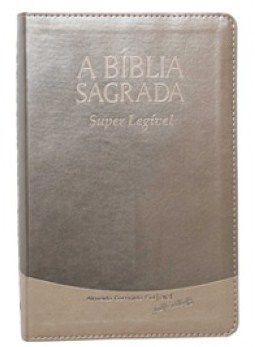Bíblia Letra Gigante Super Legível Creme Brulee Indice