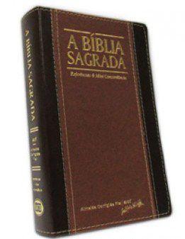 Bíblia Letra Grande Capa Chocolate Caramelo