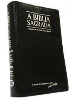 Bíblia Letra Grande Zíper Preta