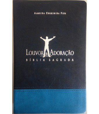 Bíblia Louvor e Adoração Capa Bicolor Azul