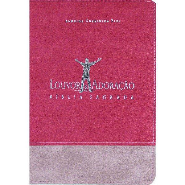 Bíblia Louvor e Adoração Capa Bicolor Pink