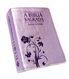Bíblia Média Letra Grande Arabesco Lilás