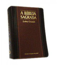 Bíblia Média Letra Grande Caramelo Chocolate