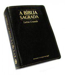 Bíblia Média Letra Grande Veneza Preta